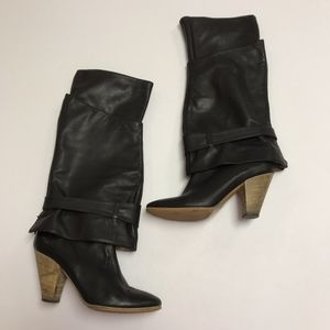 Sigerson Morrison Black Leather Convertible Boots